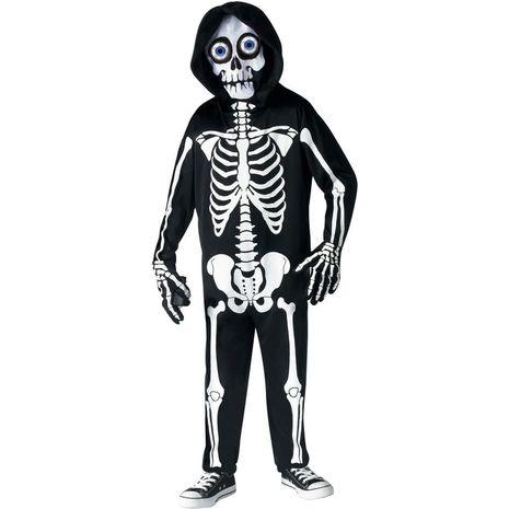 Карнавальный костюм черного Скелета