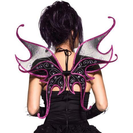 Крылья фиолетовые с чёрным