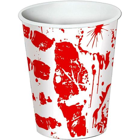 Стаканы Отпечатки крови